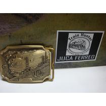 Fivela Bronze Ferrovia Trem Santa Fe Super Chief Nova Lote 1