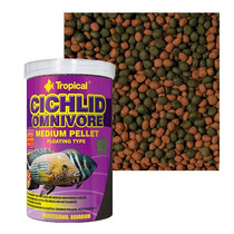 Ração Cichlid Omnivore Medium Pellet Tropical (180gr)