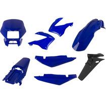 Carenagem Nxr Bross 125 Azul 2003 E 2004 Kit Completo