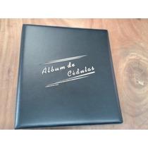 Acm/1c - Album Couro Ecolog. Luxo P/120 Cédulas Sist.argolas