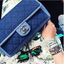 Bolsa Chanel Flap Denim 100%autentica!