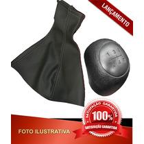 _manopla Cambio Palio Fire 02 Pr + Coifa ( Kit ) - #91873290