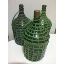 Garrafão Vidro Verde Vinho - 5 Litros