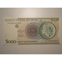 Fe) 5.000 Cr$ C-222 -cedula Provisória