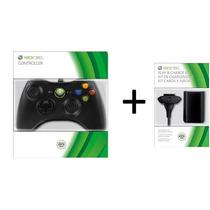 Controle Original Xbox 360 Carregado+ Bateria 10.000mah Kit