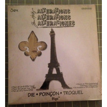 Diecut Tim Holtz Sizzix - Fleur De Lis & Eiffel Tower