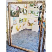 Espelho Grande 140x100cm C/moldura/ Frete Só P/ Gd. S. Paulo