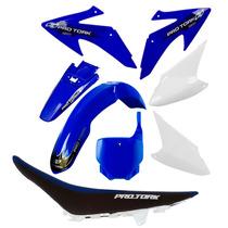 Kit Plásticos Honda Crf 230 Roupa Azul Com Banco + Brinde