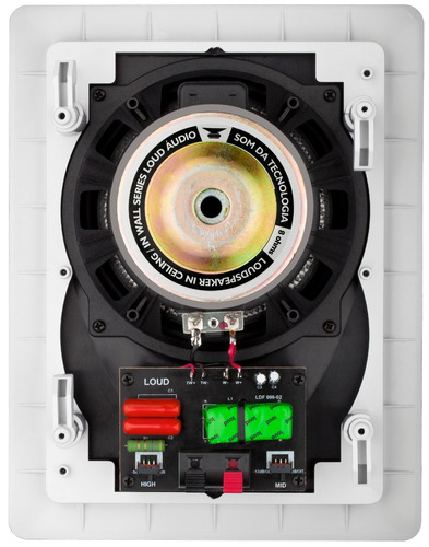 Caixa De Embutir 2 Vias 100w / Fibra De Carbono