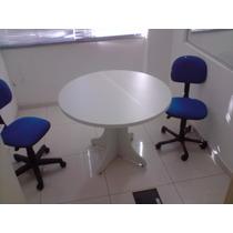 Mesa Para Reunião Redonda Em M.d.f