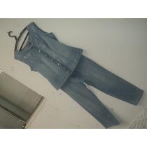 Conjunto Jeans Feminino Com Elastano 42 - Usado