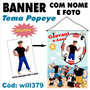 Banner Impresso Infantil Aniversário Popeye E Turma Will379