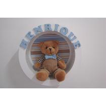 Nicho Redondo Maternidade Urso Bebê Nome Menino Menina