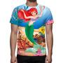 Camisa, Camiseta A Pequena Sereia Disney - Estampa Total