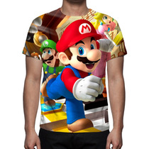Camisa, Camiseta Game Super Mario - Estampa Total