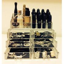 Porta Maquiagem Organizador Pincel Batom 6 Gavetas + Mimo