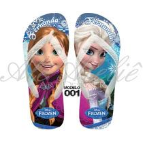 Sandálias Chinelos Havaianas Personalizadas Disney Frozen