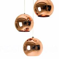 Pendente 40cm Bola Cobre Globo Bronze Tom Dixon Vidro Copper