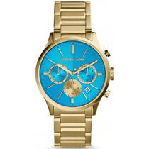 Relógio Michael Kors Mk5910 Dourado Azul Lindo Frete Grátis.