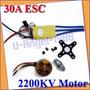 Combo Motor A2212/6t (2200 Kv ) + Esc 30a Brushless