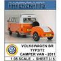 Miniatura De Papel - Veículos - Vw Kombi - Camper Van