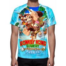 Camisa, Camiseta Game Nintendo Donkey Kong Country Tropical