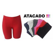 Kit 10 Shorts Plus Size Academia Feminino Fitness G1 A G4