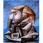Arte Abstrata Homem Pensador Grande Picasso Tela Repro