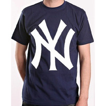 Camiseta Masculina De Manga Curta New York Yankees N.y