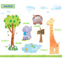 Adesivos Decorativos Zoo Kit Safari Para Quarto De Criança