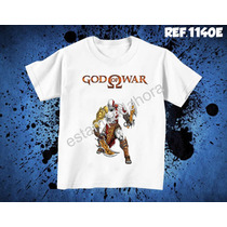 Camiseta God Of War Jogos Games Ps3 Ps4 X-box Deus Da Guerra