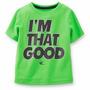 Camisa De Manga Curta Criança Com Selo Verde De Carter Que