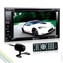 Kit Multimidia Dvd Automotivo 2din Tv Digital + Câmera De Ré