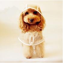 Capa De Chuva Transparente P/ Cães Tamanho L