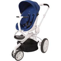 Carrinho De Bebê Quinny Moodd Stroller 3 Rodas Azul C Branco