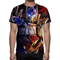 Camisa, Camiseta Transformers Optimus Prime - Estampa Total