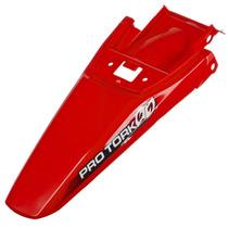Paralama Traseiro Pro Tork Modelo Crf 230 Vermelho Motocross