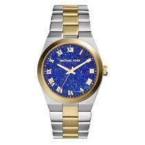 Relógio Michael Kors Mk5893 Prata, Dourado E Azul Com Caixa