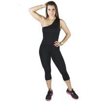 Macaquinho Liso De Ombro Microlight Roupa Fitness Academia
