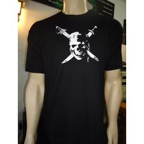 Camiseta Caveira Piratas Do Caribe