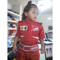 Macacão Infantil, Ferrari, Mac Kart Infantil