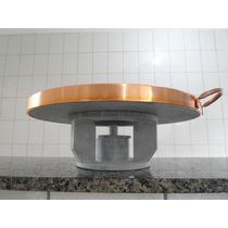 Kit Fondue Em Pedra-sabão *** Fogareiro + Pedra P/ Carne G