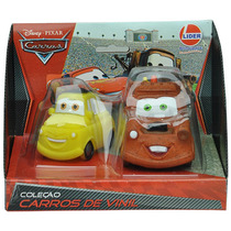 2 Bonecos Carrinho De Vinil - Carros Da Disney
