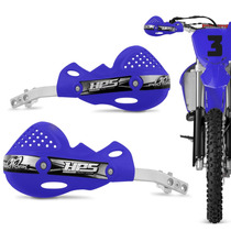 Protetor Mao Pro Tork Hps Aluminio Trilha Motocross Azul Par