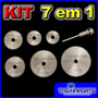 Kit 7 Em 1 Mini Disco Serra Circular Micro Retifica Dremel