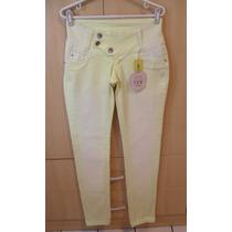 Linda Linda Calça Jeans Skinny Tie Dye Amarela !!!