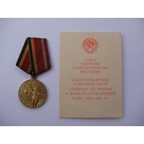 Medalha Soviética, 30 Anos Da Vitória Na Segunda Guerra