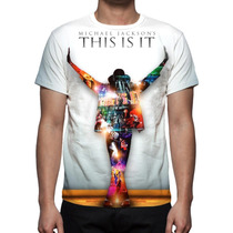 Camisa, Camiseta Michael Jackson This Is It - Estampa Total