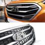Grade Do Parachoque Hyundai Ix35 Modelo Novo Emblema Cromado