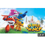 Super Wings Painel 2,00x1,00m Lona Festa Aniversário Decora